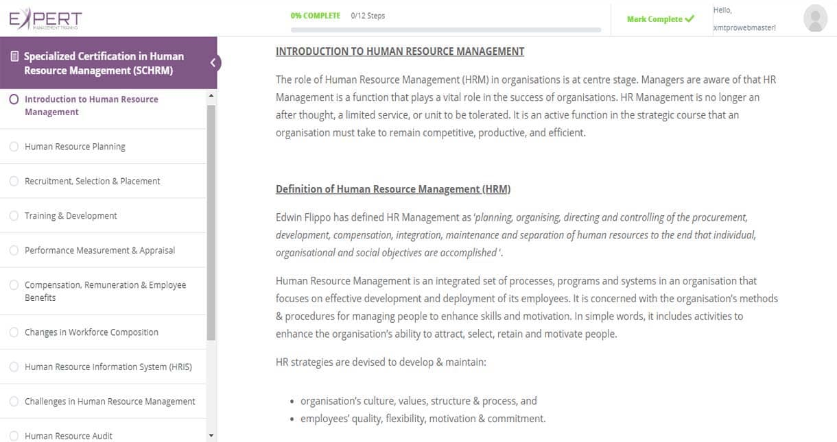 Human Resource Management Online Reading