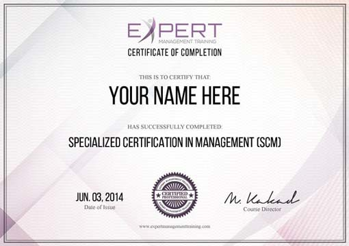 Expert Management Training Certificate